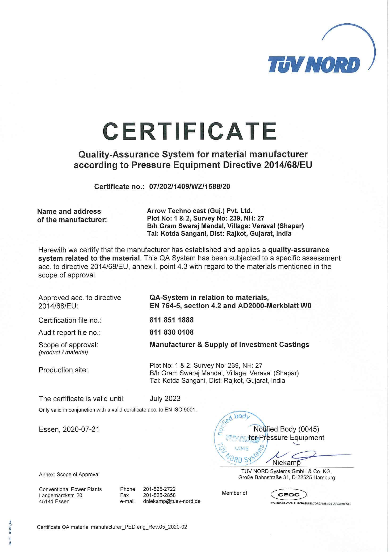 Arrow Technocast(GUJ.) Pvt. Ltd.